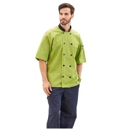 Performance Short Sleeve Colored Chef Coat (2X-3X)