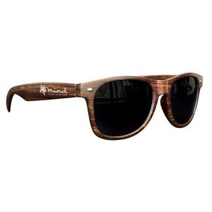 Medium Wood Tone Miami Sunglasses