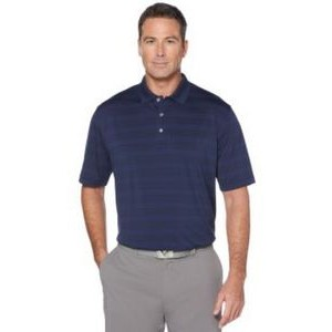 Men's Horizontal Textured Polo Shirt